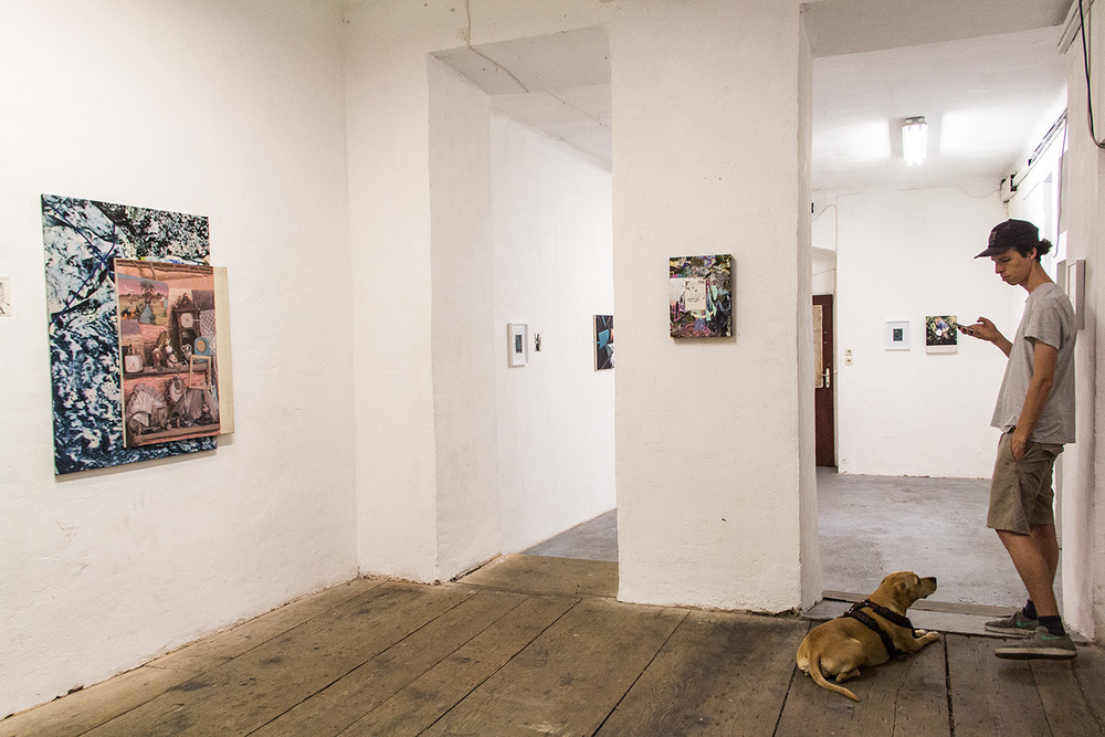 installation view, second/third room