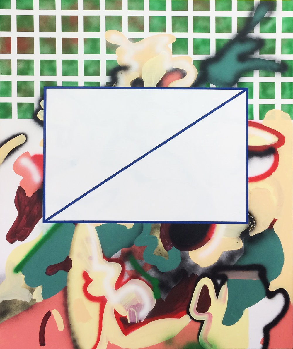 """censorship"" 2016 mixed media on canvas, 100x120 cm"