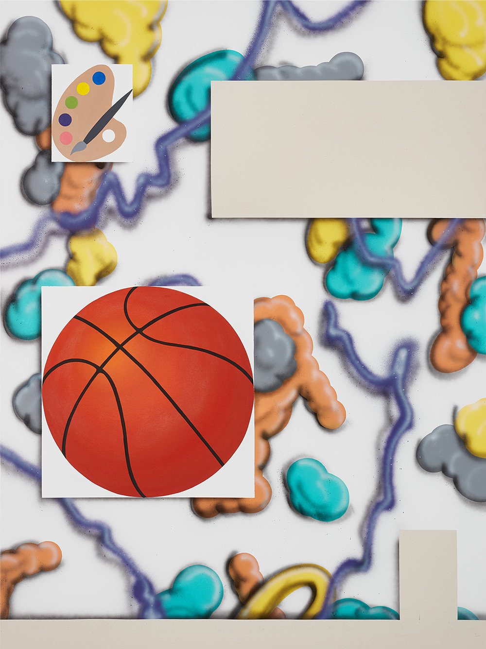 Sportlich  2017, mixed media, 160 x 120 cm
