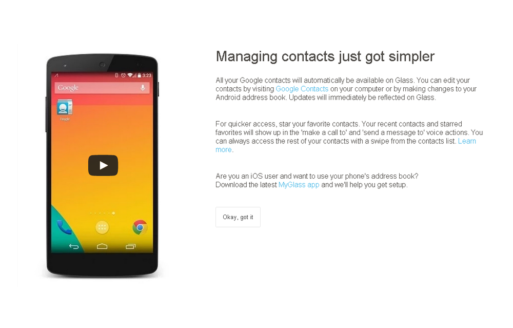 manage contacts