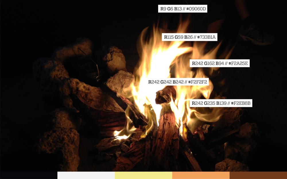 A camp fire.