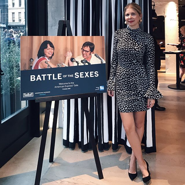 What a night! Had such a fabulous time attending the BFI London Film Festival Amex Gala of 'Battle of the Sexes'. Being a tennis lover I really enjoyed this film and wow Billie Jean King is such a legend! Who would have thought I'd get to share the red carpet with Emma Stone ;) This is just a taste of the rewards available to Amex Cardmembers. *Ad #EverydayPerks #LFF #AmexFilm