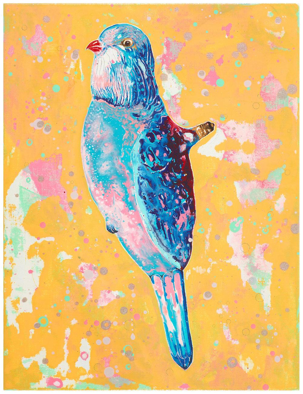 紅嘴燈泡鳥|Figural Light – Bird with Red Beak