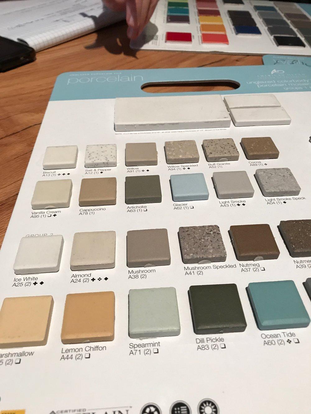Tile samples.