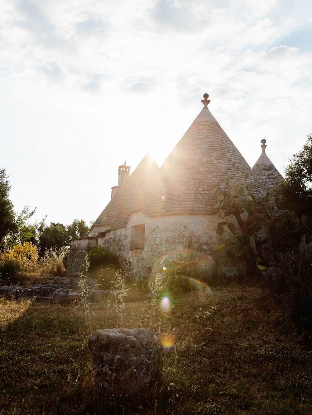Trulli in the Itria Valley (and our airbnb!)
