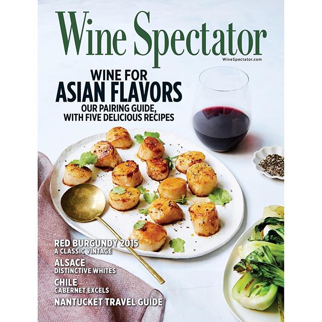 I shot the cover of the latest @wine_spectator magazine and you should check it out! Thank you @adetoth! I had a rad time working with you and power ladies @hadassmirnoff and @stephanielyeh! 💃🏻💃🏻 #winespectator