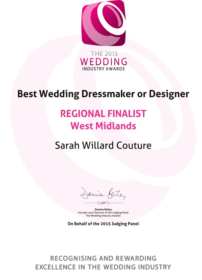 Best Wedding Dressmaker Regional Finalist