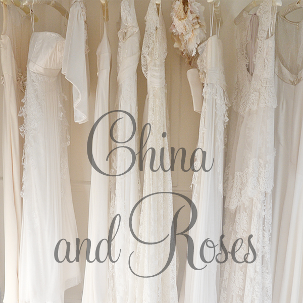 Sarah Willard China and Roses Wedding Dress Collection