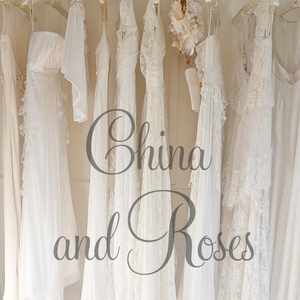 Sarah Willard China and Roses Wedding Dress Collection