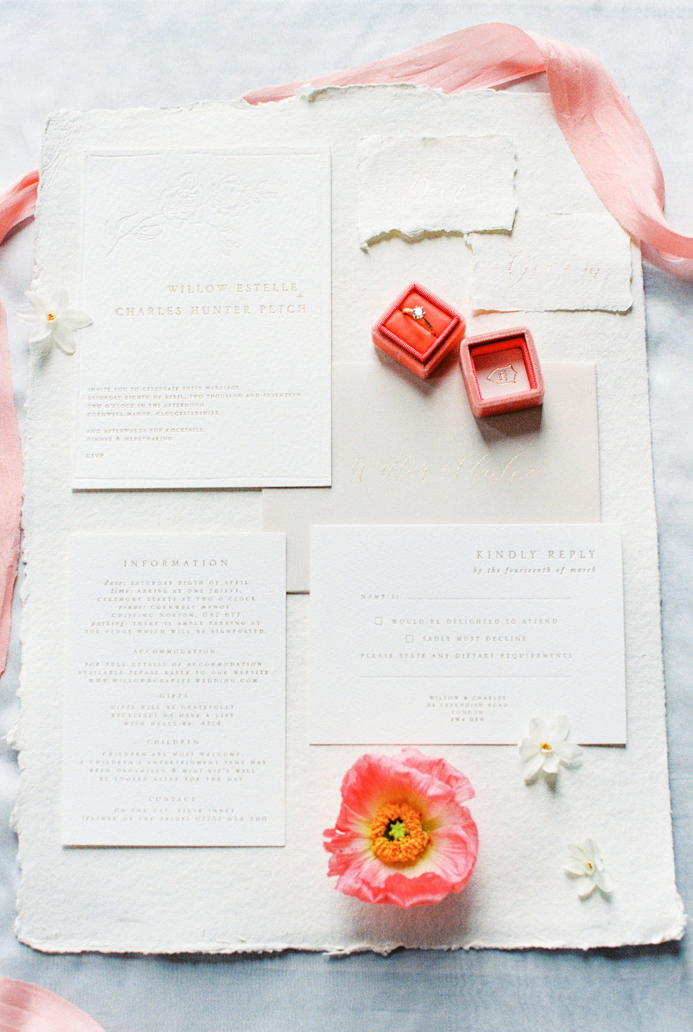 Stationery Gemma Milly | Bowtie and Belle Photography | Styled by Kate Cullen for the Fine Art Wedding Boutique