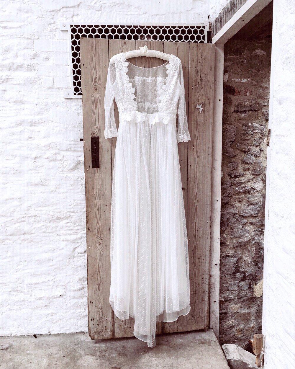 Katrina lace and tulle dress ©Sarah Willard Couture