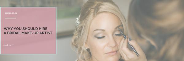 Hire a bridal make up artist