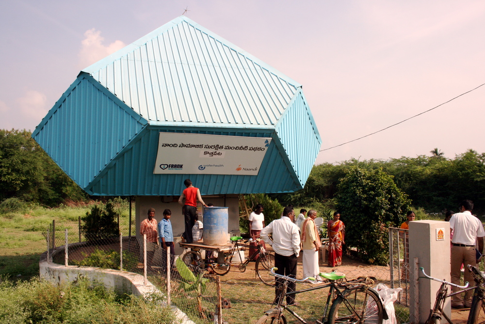 FRANK Water's first water project in the village of Kothapeta