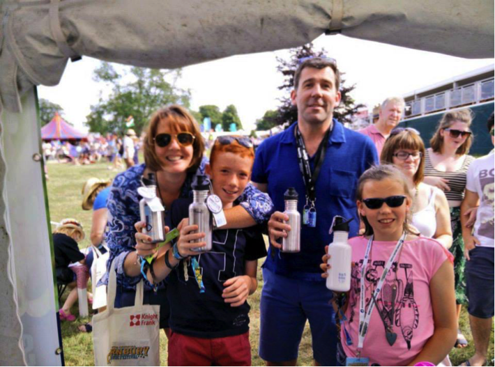 This whole family got themselves kitted out with our new stainless steel bottles!