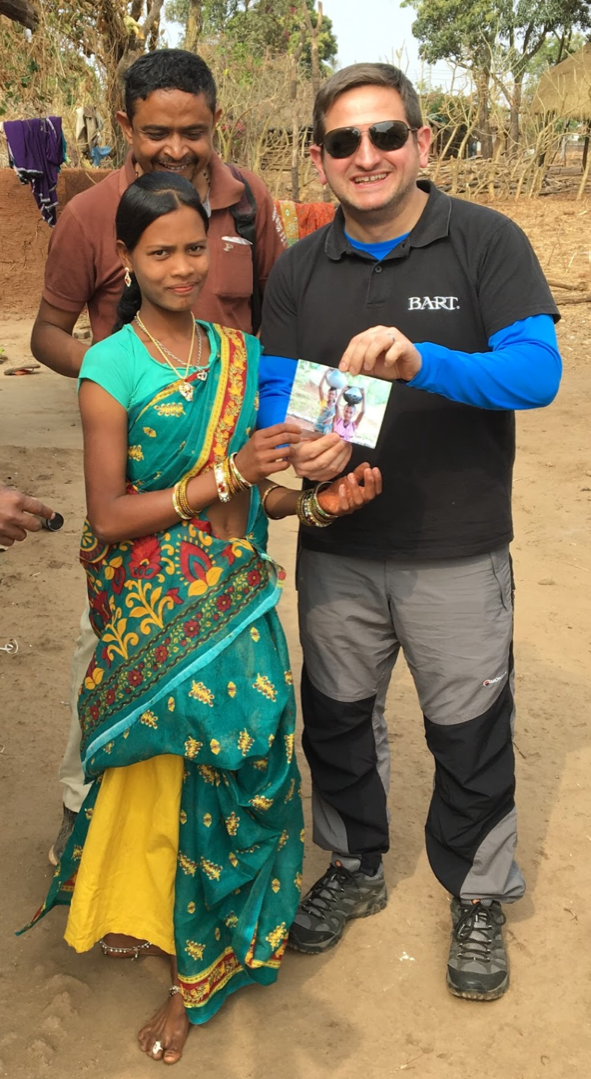 Jim Dorman meets people living in villages in Madhya Pradesh