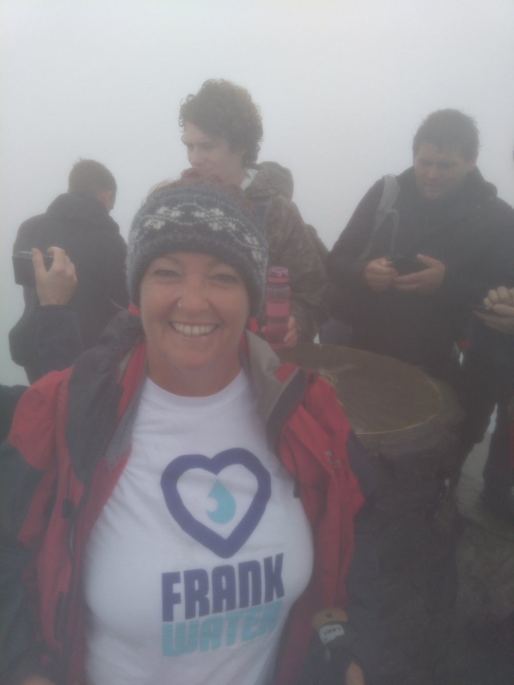 Gwen at the top of Snowdon