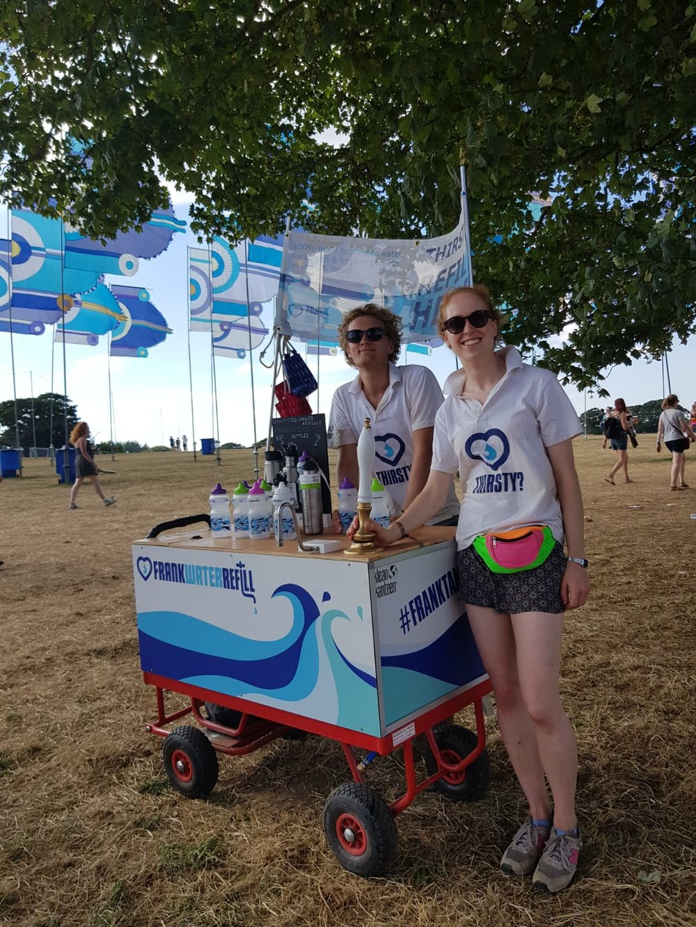 The FRANK Tanks - FRANK Water Festival Refill Service