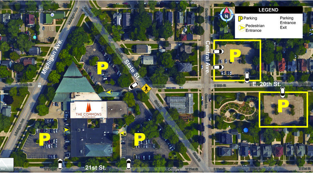 Additional parking available off of 20th & Central Ave. just one block from our Main Entrance A.