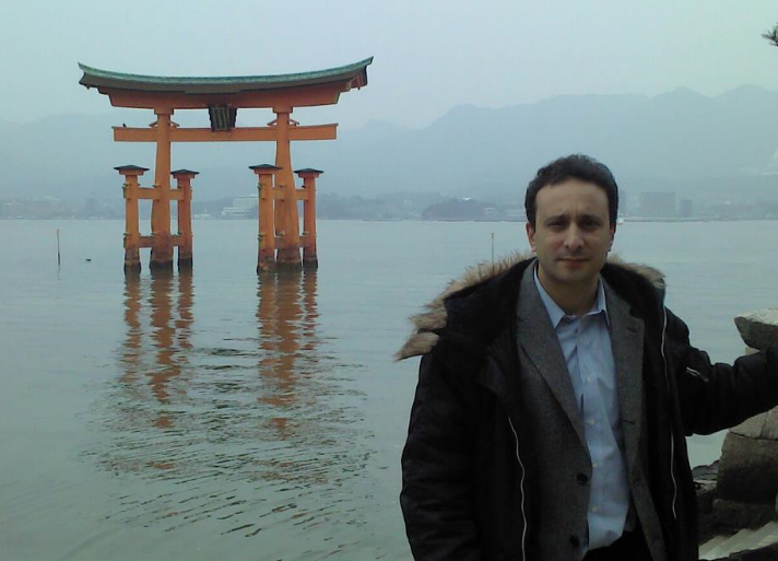 Professor Shani on the annual Rotary Peace Fellows' study trip to Hiroshima and Miyajima.