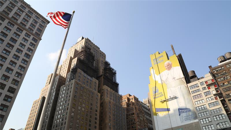 Manhattan stands ready to welcome Pope Francis in September.