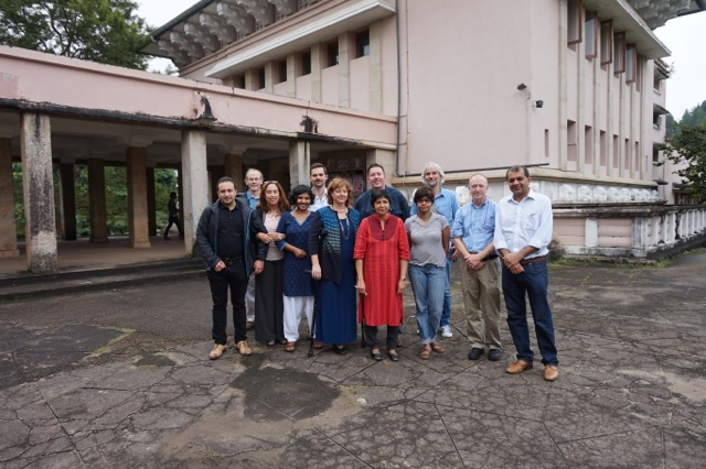 RPS participants in front of the Arts Faculty at the University of Peradeniya.