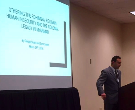 Professor Shani presenting in Atlanta.