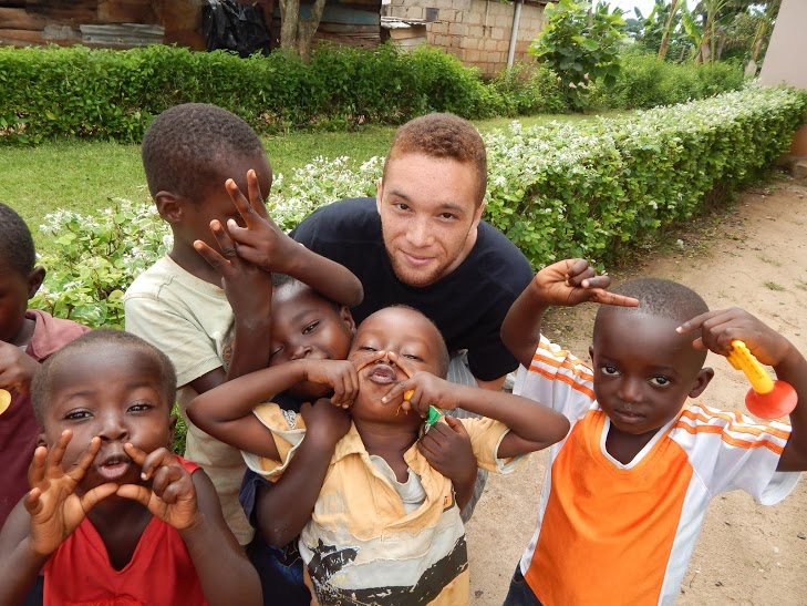 2014 Styres Scholarship Recipient Taylor Morgan picture taken during Project Wisdom service-learning trip to Ghana