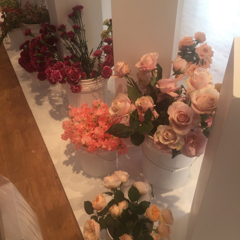 Couldn't photograph products but the office was filled with pretty flowers.