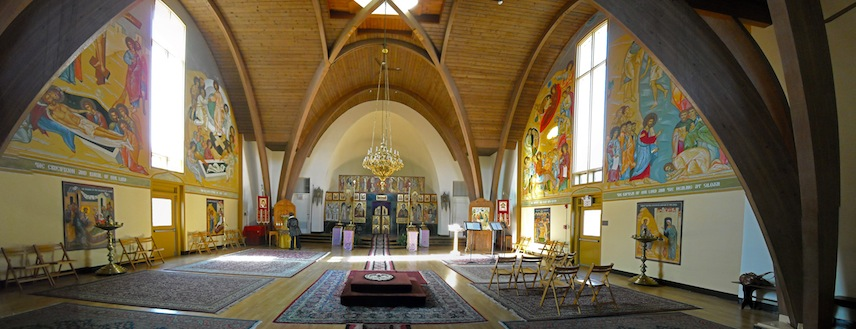 Panoramic view of the nave. Photo by Christopher Smith.