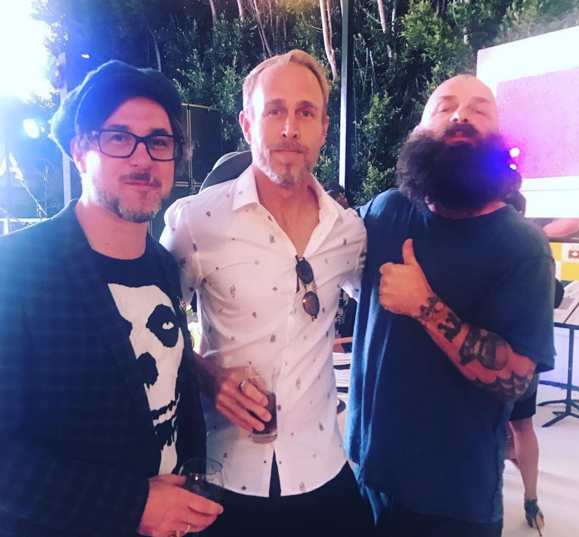 Corin Hardy, James Verbicky + Tim Armstrong, contributing artists to the Silverlake Conservatory of Music (Los Angeles, October 2018)