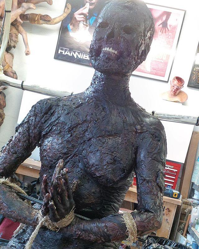 #Shiva #hannibalseason2 #konomono #charred #siliconefabrication #makeupfx #burn #gore @10.shock
