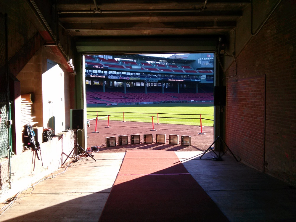 Install for   Ovation   in progress (at Fenway Park.)