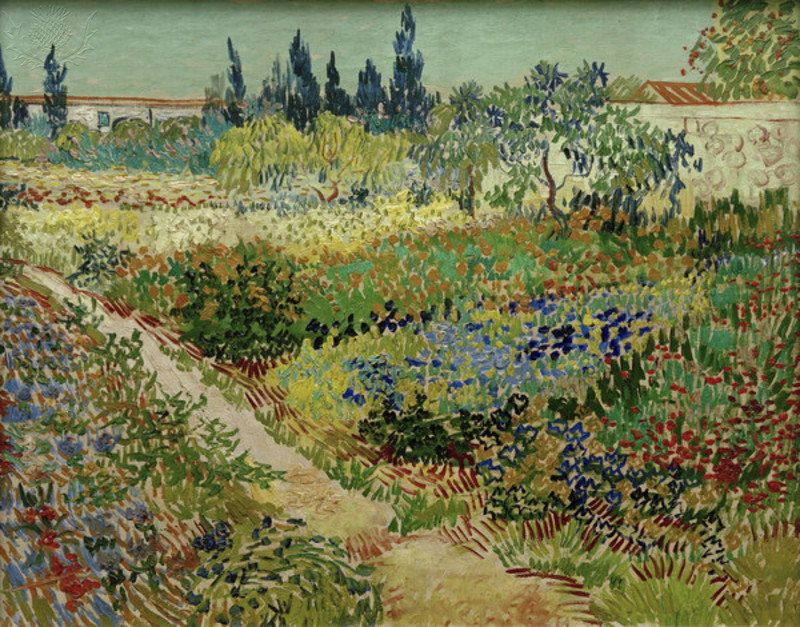 "Gogh, Vincent van; 1853-1890. ""Blooming garden with path"", Arles, 19 July 1888."