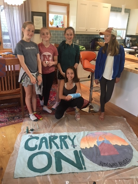 Carry On! Ridgway Reuses student's prepare for Ridgway Farmers Market