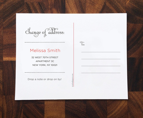 free change of address cards free printable we have moved postcards