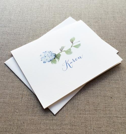 Hydrangea personalized note cards box set rosebud paper paper hydrangea personalized note cards box set m4hsunfo
