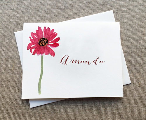 Coneflower personalized note cards box set rosebud paper paper coneflower personalized note cards box set m4hsunfo