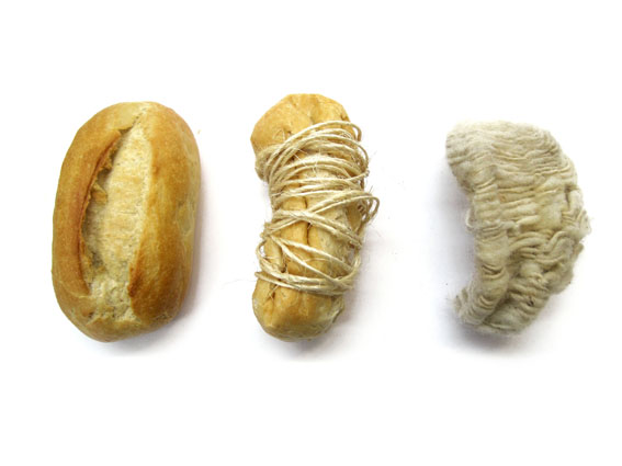 Bread, string, wool, new silver      2010