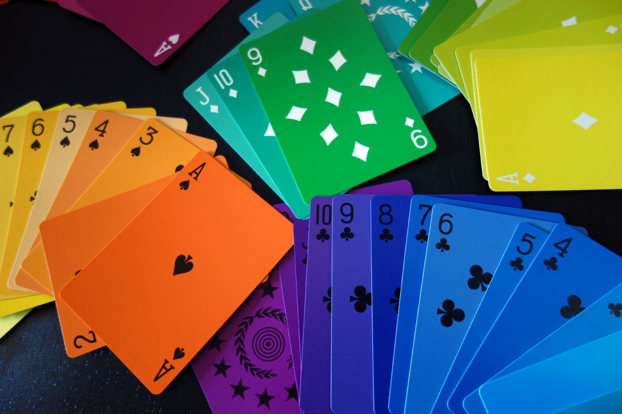hyperallergic :       Deal the Colors of the Rainbow with a New Playing Card Deck