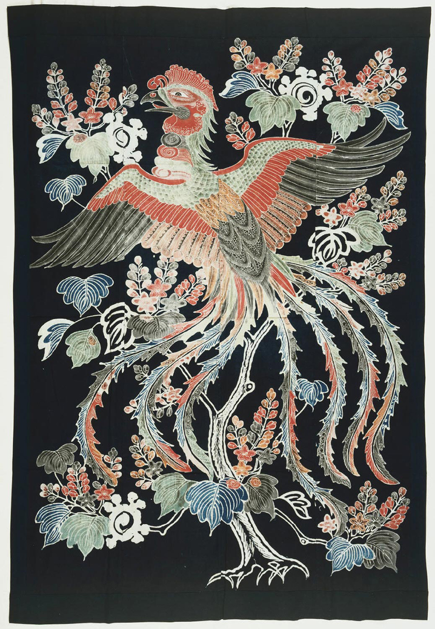 "philamuseum: Peace and happiness, courtesy of this colorful phoenix. ""Futon Cover,"" 19th century, Japan"