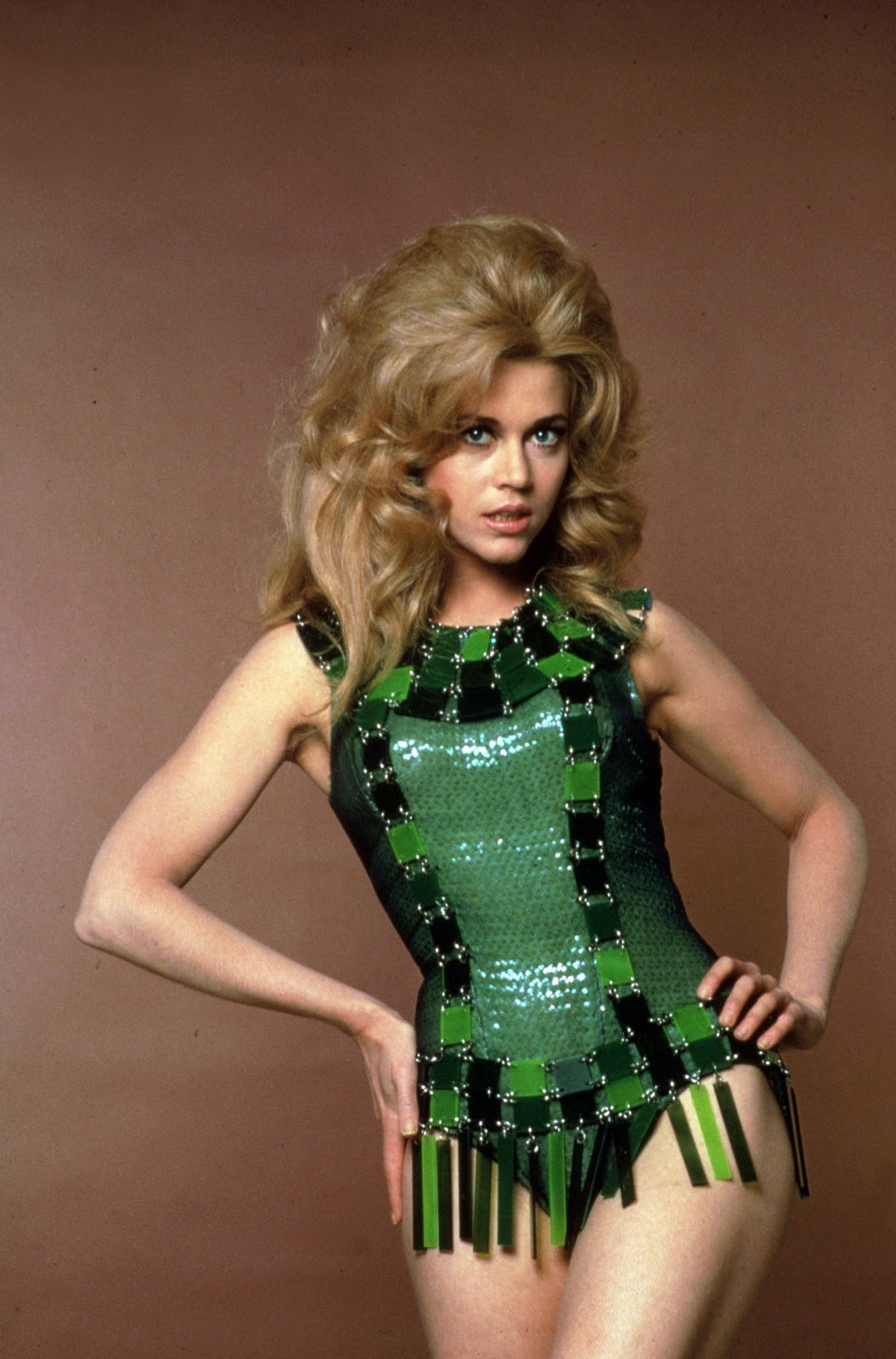 70spostergirls :     Jane Fonda.  Barbarella , 1968.