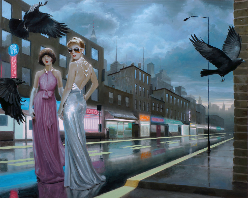 """Avenue Rx"" - oil on panel - 48x60 - 2012"