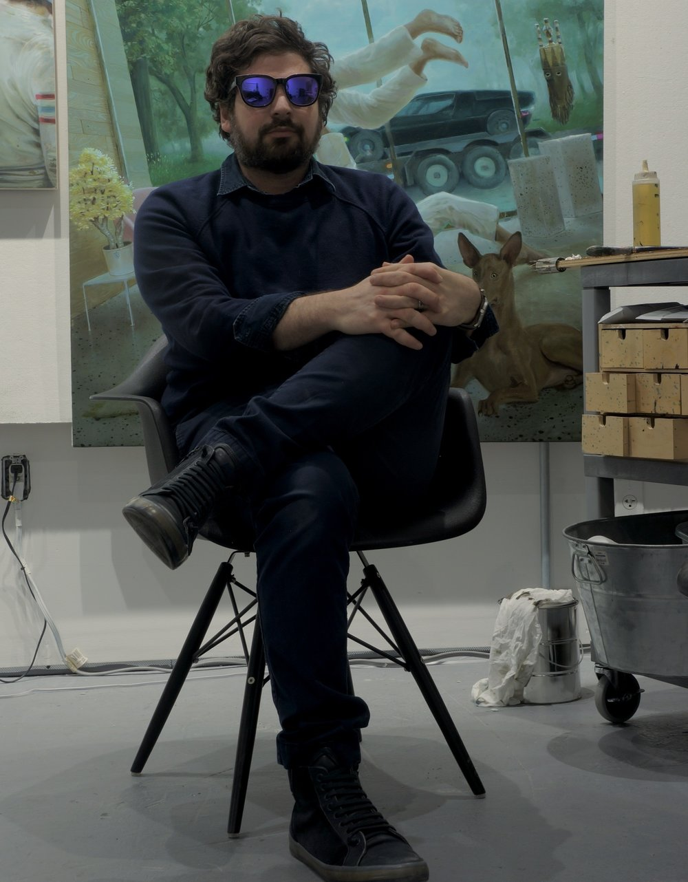 Viner in his studio. Winter, 2017/18
