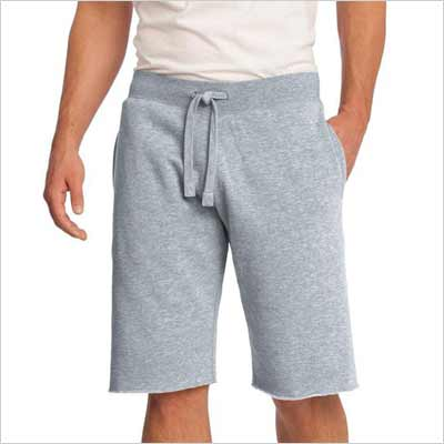I have found the best classic mens sweat shorts. These fleece sweatpant shorts have two maybe three pockets and come in solid colors. Perfect for anything from working out to lounging around.