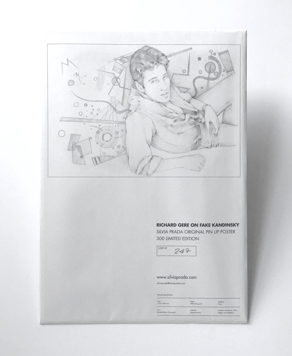 Richard Gere on Fake Kandinsky Pin-Up Poster