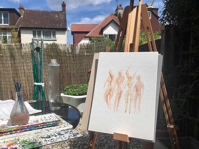 Painting dancers