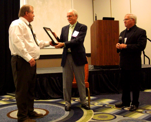 FSEA honors Mr. Steve Arms with the Lifetime Membership Award in recognition of his continued support of FSEA. Shown left to right: Dave Murto, FSEA Past President; Steve Arms, FLDOH-ELCP; and Fred Bothe, FSEA President.