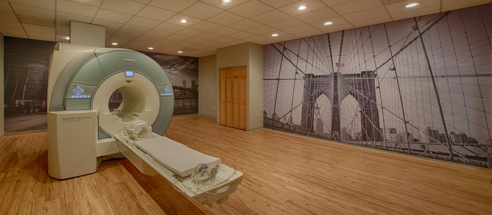 MRI suite in Park Slope, Brooklyn - custom printed wall graphics