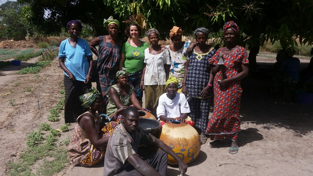 Celebrating with my Owayel Soil Sisters in Senegal.  Photo by Yaguemar Diop