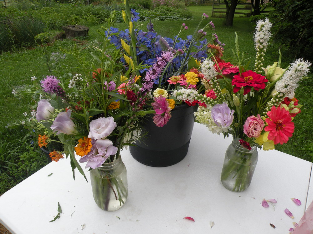 CSA Bouquet - making July 26